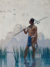 Indian Brave Fishing